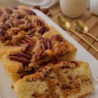 עוגת וניל בלונדי פקאן וקפה